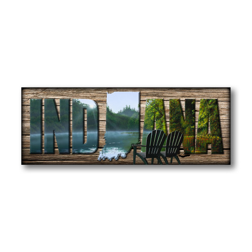 """INDIANA"" Sign - Reflections"