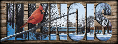 ILLINOIS - Sign - Creekside Perch - Cardinal