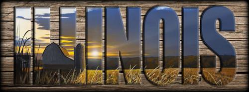 ILLINOIS - Sign - Sunset Crossing - Barn