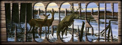 WISCONSIN - Sign - Leading the Way - Deer