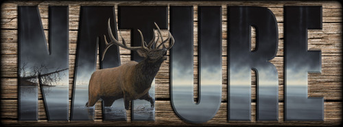 NATURE Sign - Daybreak Sentinel - Elk