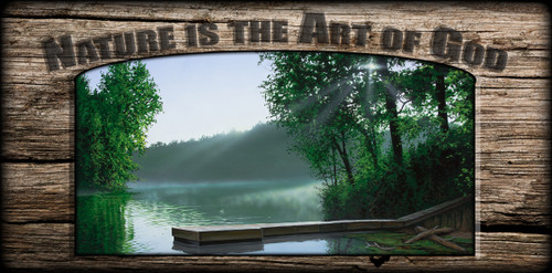 """""""Nature is the Art of God"""" Sign - The Cross and the Light"""