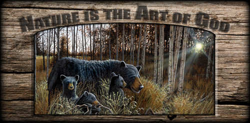 """Nature is the Art of God"" Sign - Summer Bounty - Bears"
