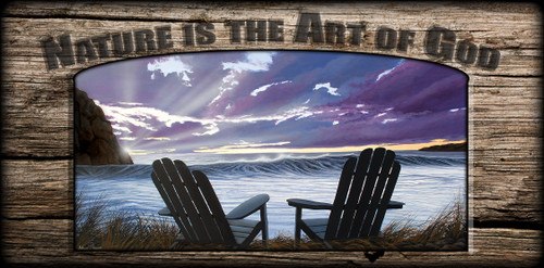 """Nature is the Art of God"" Sign - Our Ocean View"