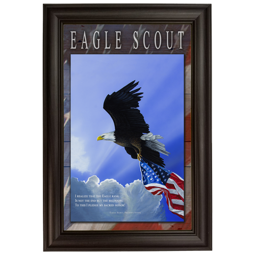 """Eagle Scout - Personalized 11""""x17"""" Framed Canvas Print"""