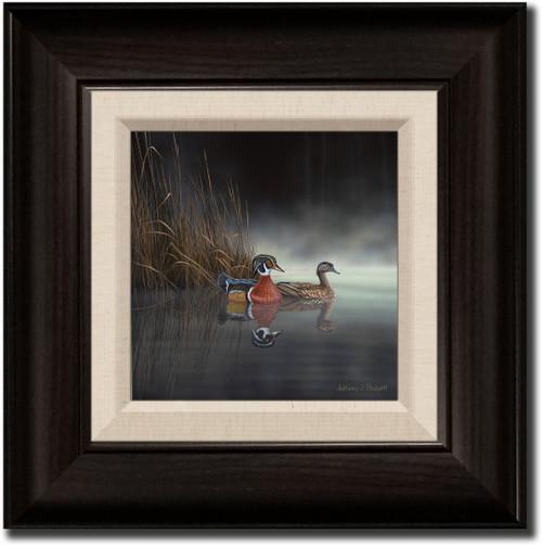 Small Canvas Print - Daybreak Encounter - Wood Ducks