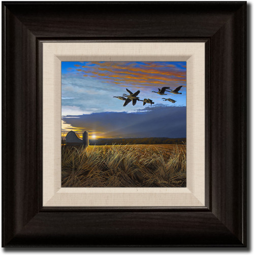 Small Canvas Print - Sunset Crossing