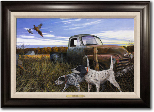 """""""English Prairie"""" -  Framed Canvas Print with Optional Truck Door Personalization"""