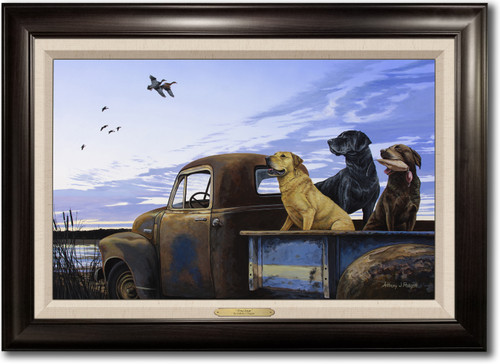 """""""Full Load"""" -  Framed Canvas Print with Optional Truck Door Personalization"""