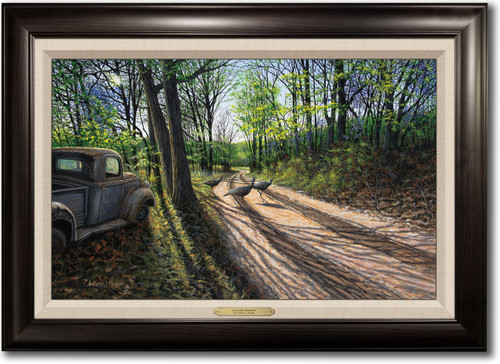 """""""Country Crossing"""" -  Framed Canvas Print with Optional Truck Door Personalization"""