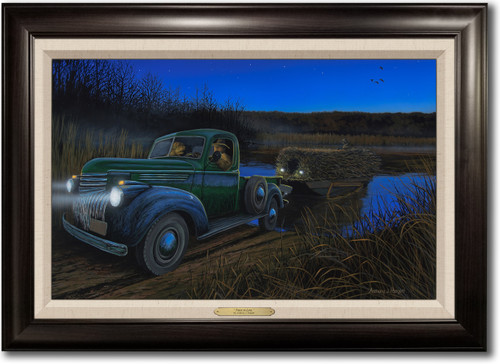 """""""First in Line"""" -  Framed Canvas Print with Optional Truck Door Personalization"""