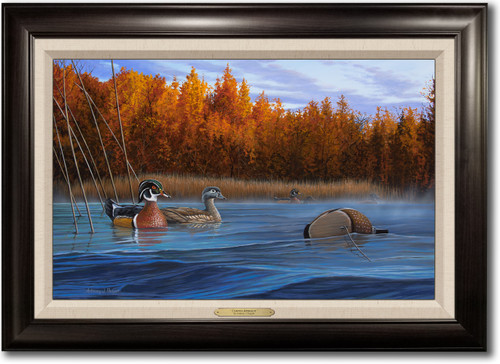 """""""Curious Approach"""" -  Framed Canvas Print w/ Optional Decoy Personalization"""