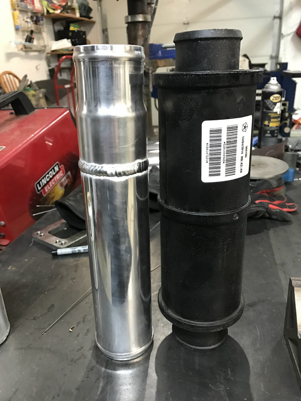 Fully tig welded tube with bead rolled ends.