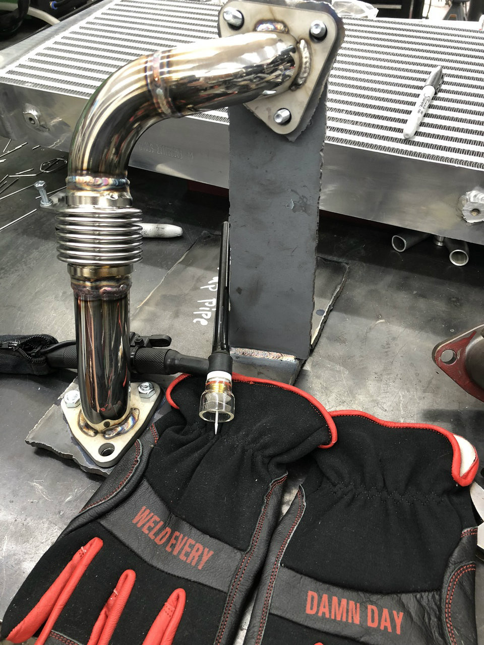 304 stainless fab up pipe