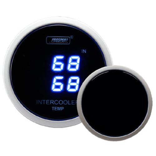 Prosport Dual Intercooler Air Temperature Gauge Digital Display-52mm