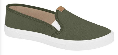 Militar Green Casual Shoes Lona Sider