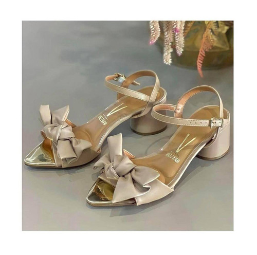 Nude Vizzano Sandal with Gold