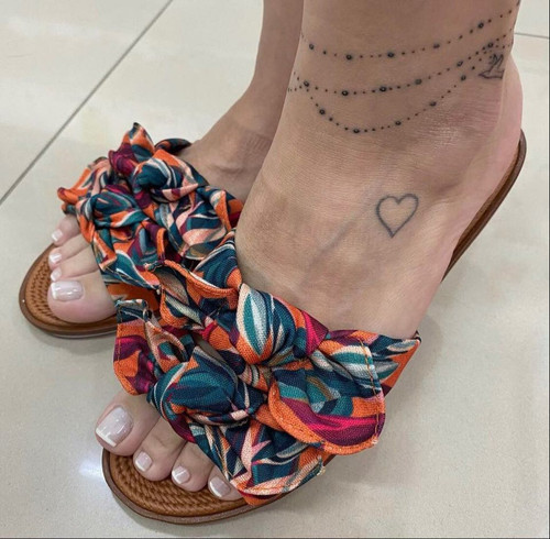 Colorful Sandal with Bow