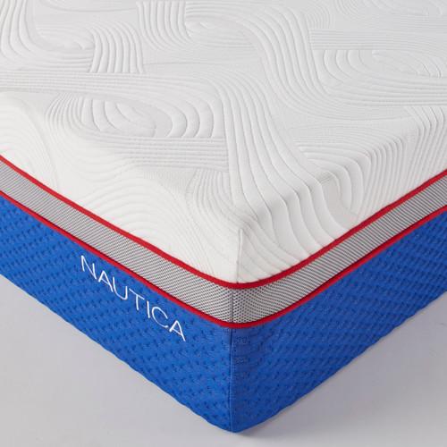 "Nautica Home 12"" Serenity GEL/LATEX Mattress - Free Fedex and installation"