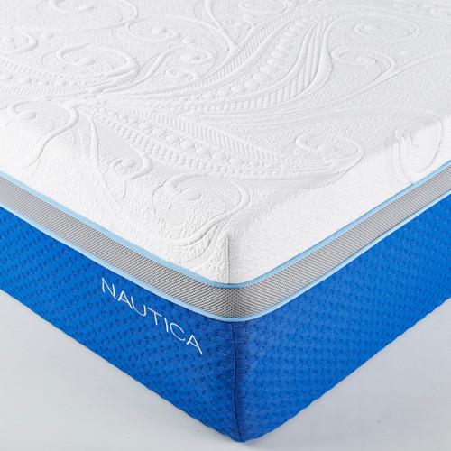 "Nautica Home 14"" Cool GEL/LATEX Mattress-Free Fedex & Install"
