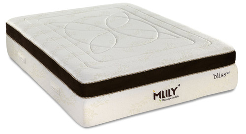 MLILY Bliss Memory Foam, Gel & Bamboo PillowTop