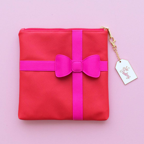 Red Package Pink Bow Clutch SALE!