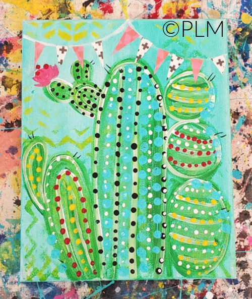 Cactus Paint Like ME! at Home Kit