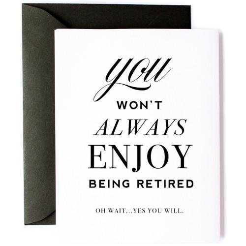 Card-Enjoy Retirement