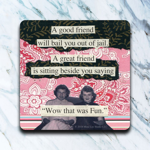 Neoprene Coaster-Good Friend Jail