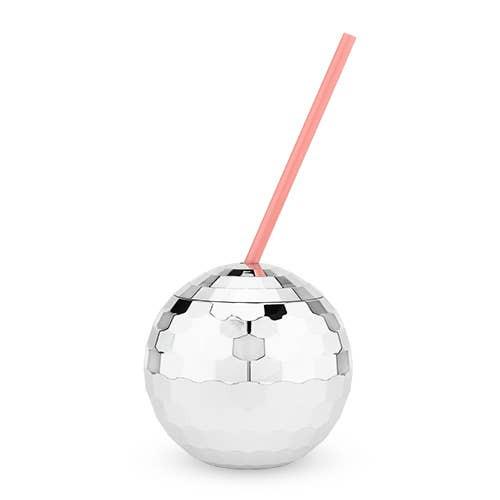 Disco Ball Sipper-Silver