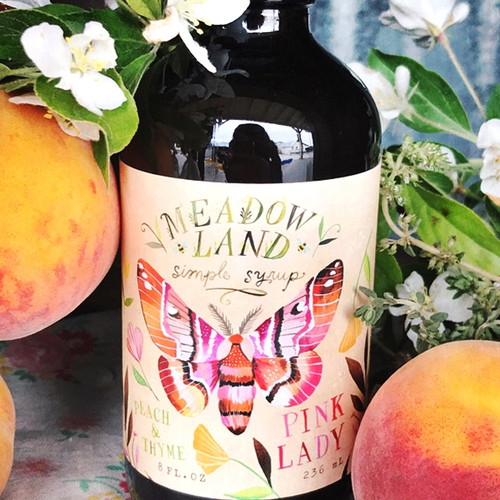Simple Syrup-Pink Lady :Peach & Thyme