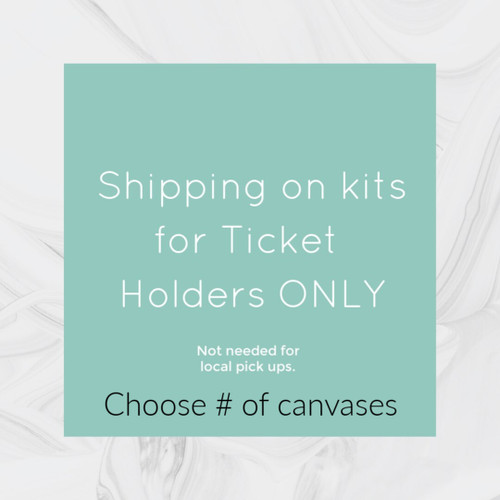 Please select the number of canvases we are shipping. We are not making money off of shipping, simply passing it on to you.