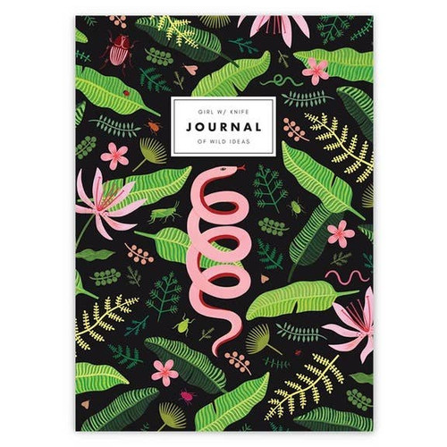 Luxe journal for your wild ideas. Made by Girl With Knife, a woman owned company in CA.