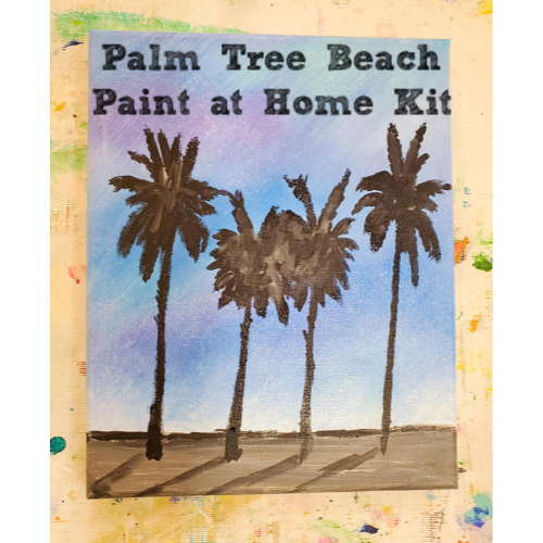 Palm Tree Beach at Home Kit