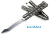 "BENCHMADE MODEL 67 BALISONG. 4.25"" D2 TOOL STEEL TANTO STYLE BLADE. CUTLERY SHOPPE"