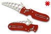"SPYDERCO C103TR P'KAL TRAINER. UNSHARPEND ""DRONE"" BLADE. RED G-10 HANDLE. CUTLERY SHOPPE"