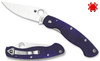 "Spyderco C36GPDBL Military - 4.0"" Satin Finish CPM-S110V Blade - Midnight Blue G-10 Handle"