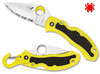 "SPYDERCO C26SYL SNAP-IT SALT WHITEWATER RESCUE FOLDER. MARINE YELLOW LIGHTWEIGHT FRN HANDLE. 2.96"" SERRATED EDGE H-1 BLADE STEEL. CUTLERY SHOPPE"