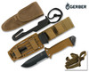 GERBER LMF II SURVIVAL MILITARY KNIFE. MODEL 22-41400. COYOTE BROWN HANDLE & SHEATH. CUTLERY SHOPPE