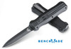 "Benchmade 3320BK Pagan OTF Automatic - 3.96"" Double Edge 154CM Black Finish Blade - CUTLERY SHOPPE"