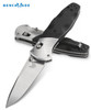"BENCHMADE 581 BARRAGE AXIS ASSISTED OPENER. 3.6"" SATIN FINISH PLAIN EDGE M390 BLADE. BLACK G-10 SCALES W/ALUMINUM BOLSTERS. CUTLERY SHOPPE"
