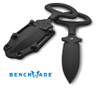 BENCHMADE 175BK ADAMAS FIXED BLADE KNIFE. BK1 COATED BLADE. BLACK MOLDED KYDEX SHEATH. CUTLERY SHOPPE