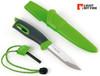 "Light My Fire Swedish FireKnife - 3.9"" Plain Edge Blade - w/Swedish FireSteel - Green"