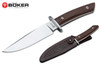 "Boker Arbolito 02BA593W Esculta - 5.75"" Plain Edge Böhler N695 Blade - Guayacan Ebony Handle - Brown Leather Belt Sheath - CUTLERY SHOPPE"