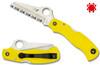 C118YL, C118SYL, SAVER SALT, H-1 BLADE STEEL, YELLOW FRN HANDLE, RESCUE KNIFE, SPYDERCO, CUTLERY SHOPPE