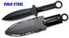 "Cold Steel 80PSSK Shanghai Shadow - 7"" Plain Double Edge Blade - Polypropylene Scale Handle - Secure-Ex Sheath - CUTLERY SHOPPE"