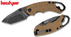 "KERSHAW 8750TTANBW SHUFFLE II FOLDER. 2.6"" BLACKWASH FINISH 8Cr13MoV BLADE. TAN GFN HANDLE. CUTLERY SHOPPE"