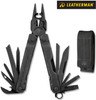 "Leatherman 831367 Super Tool 300 EOD - 4.5"" Closed - 19 Tools  - Black Oxide Finish - Black Nylon Molle Sheath"