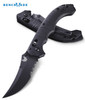 "BENCHMADE 860SBK BEDLAM MANUAL OPENING AXIS FOLDER. 4.0"" BLACK FINISH COMBO EDGE 154CM BLADE. CONTOURED BLACK G-10 HANDLE. CUTLERY SHOPPE"
