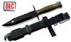 "Ontario 6220 M9 Bayonet - 7.0"" Black Finish 420 Modified Stainless Steel Blade - OD Green Kraton Handle - GFN Sheath w/Wire Cutter & Screwdriver"